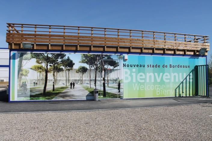 décoration algeco zone de vie grand stade